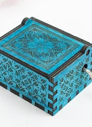Шкатулка гарри поттер  резная деревянная музыкальная