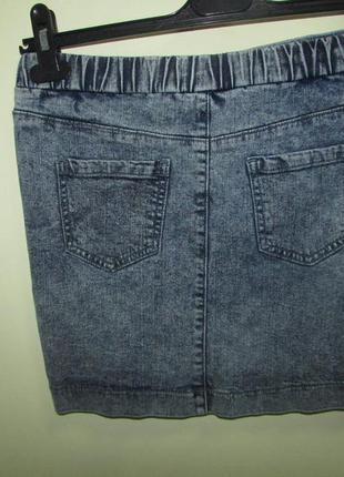 Джинсовая мини юбка варенка denim co