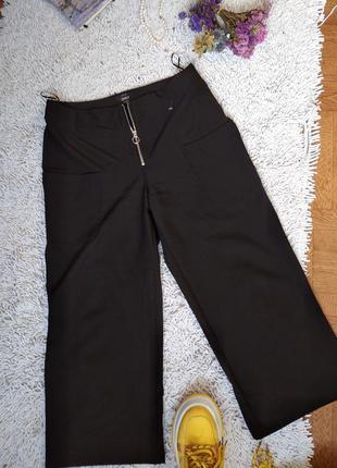 Кюлоты штаны чёрные брюки широкие классические кюлоти штані чорні класичні брюки