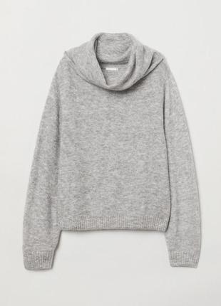 Мохеровый, шерстяной свитер,джемпер,гольф h&m,40/l