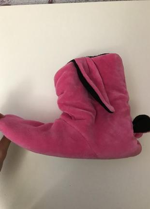 Тапочки собачки розовые теплые 40 р.