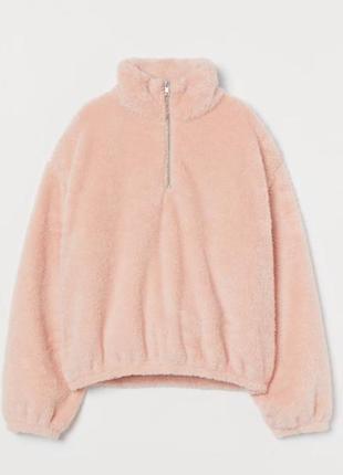 Акция!!! h&m кофта шубка плюш свитер худи джемпер