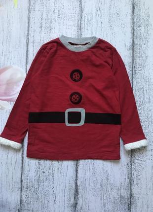 Крутая кофта реглан музыкальная новогодний свитер новый год next 3-4года