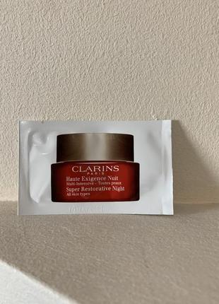 Clarins super restorative night all skin types восстанавливающий ночной крем