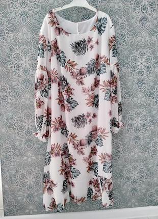 Нежное платье 👗с трендовым принтом ☘️