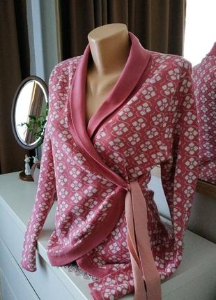 Брендовый кардиган кофта швеция натуральная ткань