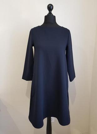 Теплое синее платье cos