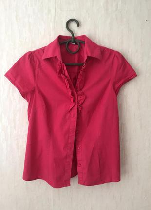 Блуза с рюшками