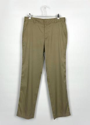 Брюки чинос nike tech golf pants flat front (597323-237) khaki
