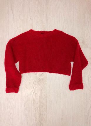 Укороченный свитер, тёплый свитер