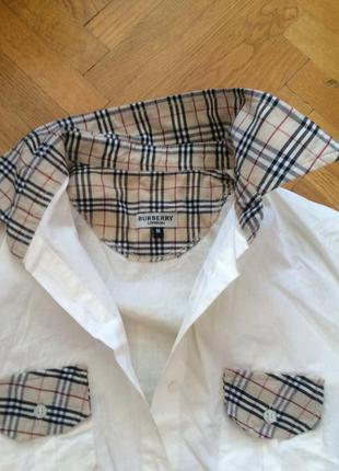 Рубашка burberry молочного цвета