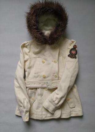 Парка пальто с мехом ralph lauren xs s
