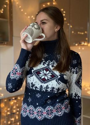 Новогодний свитер женский 2020