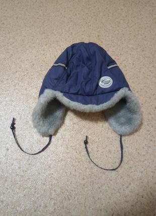 Шапка-ушанка зимняя на мальчика 4-6 лет