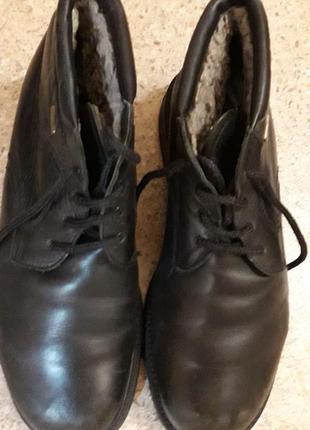 Зимние кожаные ботинки на овчине. бренд gallus.