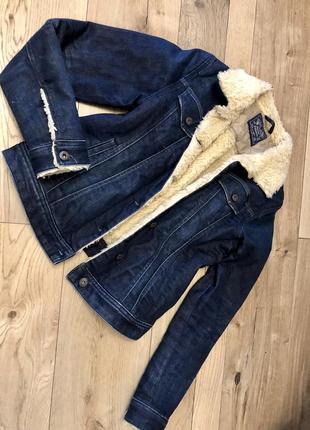 Куртка джинсовая на меху и синтепоне diesel