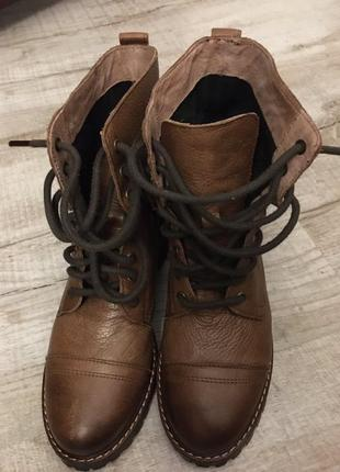 Кожаные ботинки h&m / logg