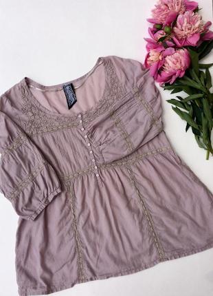 Легкая лиловая тонкая летняя блузка kappahl размер 42-44 xl xxl