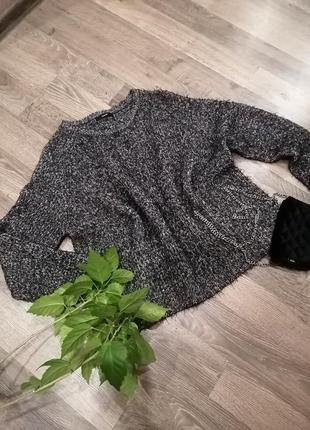 "Шикарный свитер кофта ""травка"". батал. (35%нейлона) george"