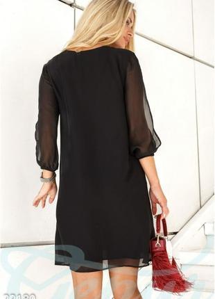 Элегантное шифоновое платье