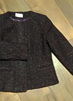 Пиджак жакет s шерстяной короткий женский