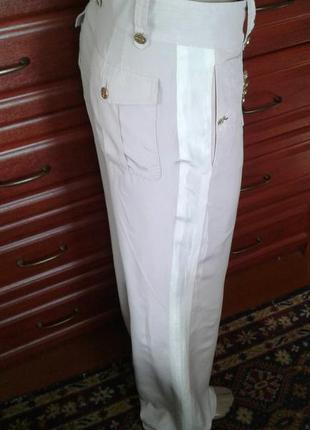 Louis vuitton(франция)оригинал шелковые брюки с лампасами высокой 38(44/46/48)