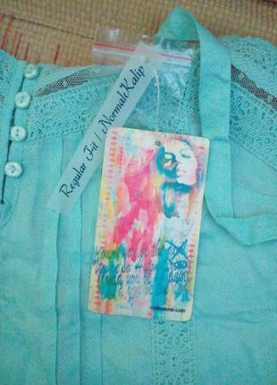Нежнейшая новая блуза на бретелях collezione, размер м