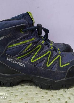 Замшевые трекинговые ботинки salomon clima waterproof