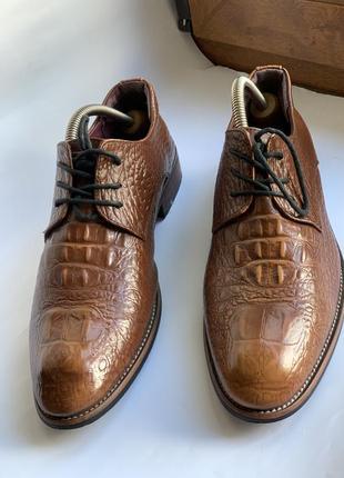 Туфли кожа крокодил оригинал