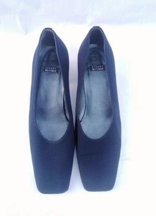 Брендовые дизайнерские туфли navy синие квадратный носок