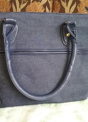 Стильная джинсовая сумка
