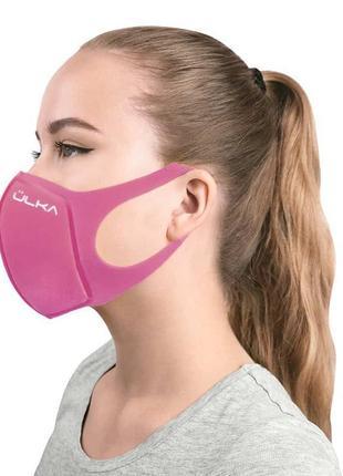 Многоразовая защитная угольная питта маска ulka, розовая, pm2.5, n95