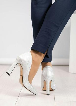 Кожаные туфли лодочки натуральная кожа туфли на каблуке3 фото