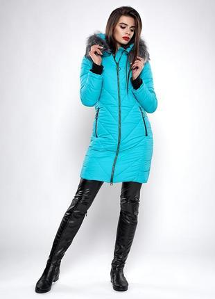 Зимова куртка з хутром подовжена