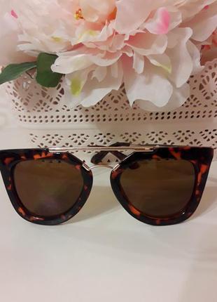 Солнцезащитные очки большого размера, коричневые очки c&a
