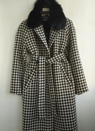 Утепленное пальто,итальянская шерсть!