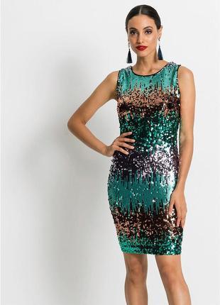 Вечернее / коктейльное платье в пайетках h&m zara