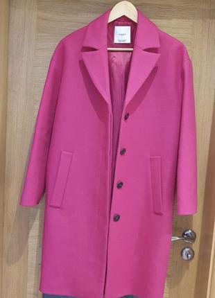 Пальто mango цвет фуксия