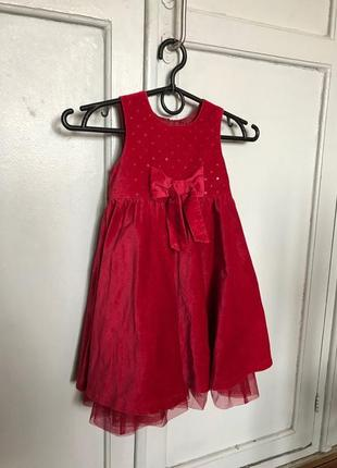 Світкова сукня нарядне плаття next, 12-18м, 86см платье нарядное сарафан теплое с бантом