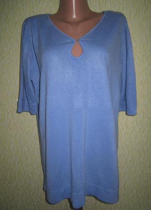 Голубая тёплая кофта футболка свитер,essence,р.18-20,камбоджа