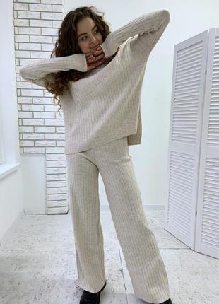 Костюм кофта + штаны кюлоты женский