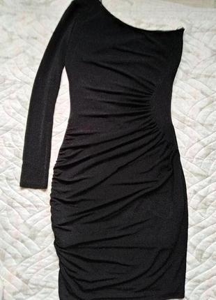 Стильное модное платье с люрексом