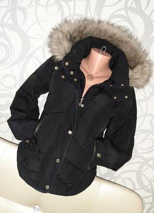 Куртка демисезонная с капюшоном и мехом🍁