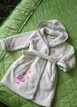 Халатик на девочку 2-4 года.