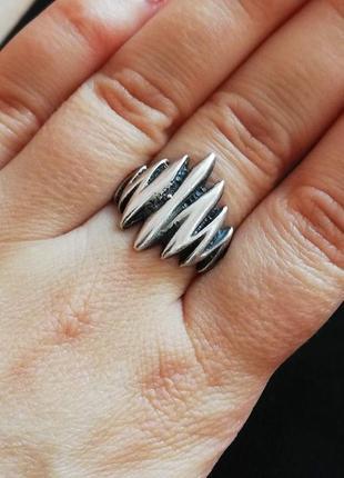 Кольцо серебряное б/у р.19 # срібне колечко лот 309