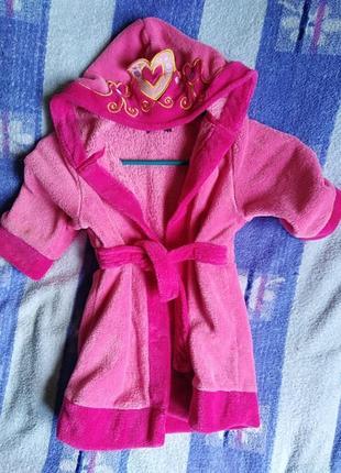 Махровый халат для принцессы mini by very