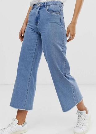 Широкие джинсы на высокой посадке