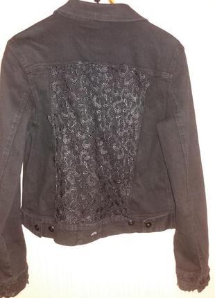 Оригинальный джинсовый пиджак