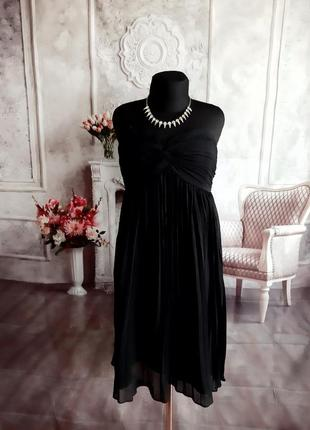 Стильное платье бюстье миди