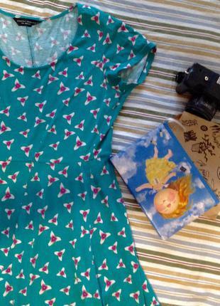 Зеленое платье миди dorothy perkins